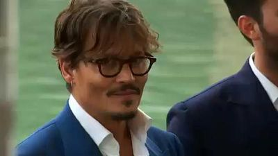"Johnny Depp promotes ""Waiting for the Barbarians"" at Venice Film Festival"