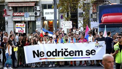 ''I'm not giving up'' Belgrade Pride calls for Serbia to address LGBT rights