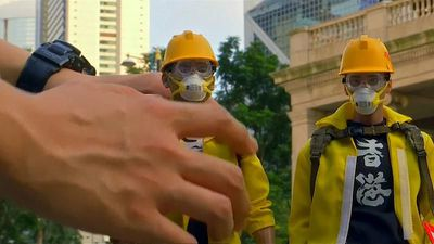 Watch: Toymaker documents Hong Kong protests in miniature