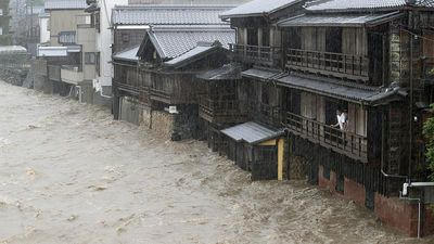 Typhoon Hagibis batters Japan with high winds and heavy rain
