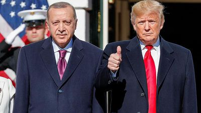 Watch: Erdogan visits Trump after US-Turkey diplomatic tension