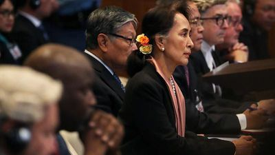 Aung San Suu Kyi at the ICJ for Myanmar genocide trial