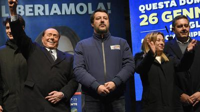 Italy's right-wing leader Salvini targets leftist region in key vote