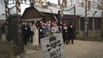 'We forget at our peril: London mayor Sadiq Khan attends Auschwitz memorial