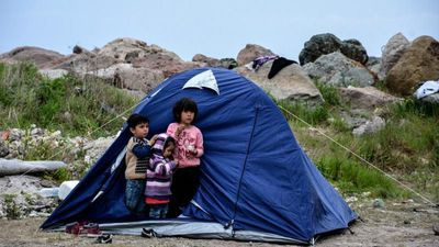 Migrants arriving in Greece say they have no protection against coronavirus