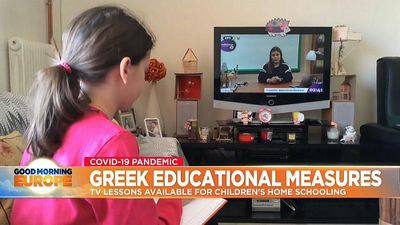 Greece uses state TV to teach school children during coronavirus lockdown
