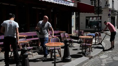 Coronavirus latest: Bars, cafes and restaurants reopen in France