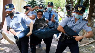 Kazakhstan: Over 100 detained in first protests since lockdown eased