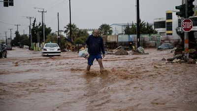 Seven killed in floods after torrential downpours on Greek island