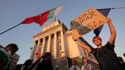 Bulgaria anti-government protesters hunger strike as demonstrations enter second month