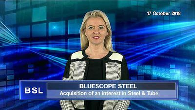 BlueScope acquires an interest in Steel & Tube Holdings