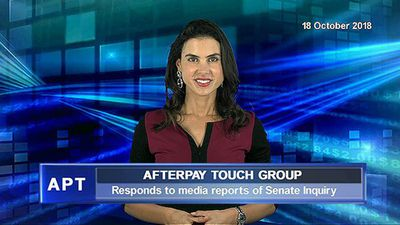 Afterpay Touch Group responds to media reports of Senate Inquiry