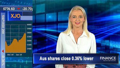 AUD rises to a three-week high: ASX closes 0.4% lower