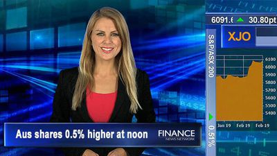 Back in the black, ASX snaps 2-day fall: Aus shares 0.5% higher at noon
