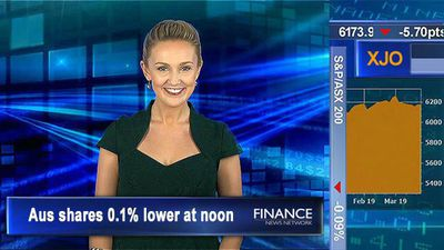 Industrials boost the market: Aus shares 0.1% lower at noon