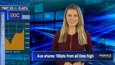 Aus shares 180pts from all time high, ASX eyes a rise of 0.1% as Fed hints at rate cut
