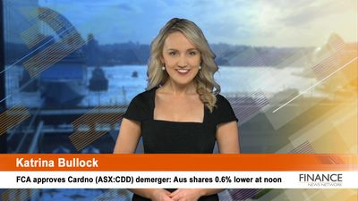 FCA approves Cardno (ASX:CDD) demerger: Aus shares 0.6% lower at noon