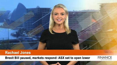 Brexit Bill paused, markets respond: ASX set to open lower