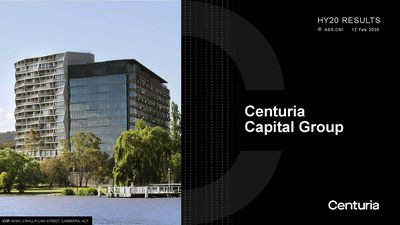 Centuria Capital Group (ASX:CNI) 1H20 Results Presentation