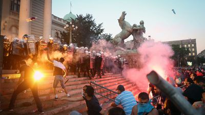 Serbian protesters clash with police over government handling of coronavirus