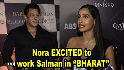 Nora Fatehi EXCITED to work Salman Khan in BHARAT