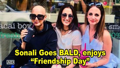 Sonali Bendre Goes BALD, enjoys Friendship Day with her pals