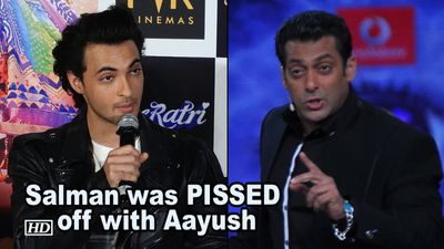 Salman REVEALS, was PISSED off with Aayush