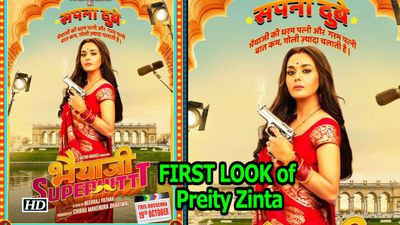 "FIRST LOOK of Preity Zinta in ""Bhaiaji Superhit"" with Sunny Deol"