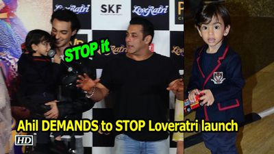 Must Watch: Ahil DEMANDS to STOP 'Loveratri' launch