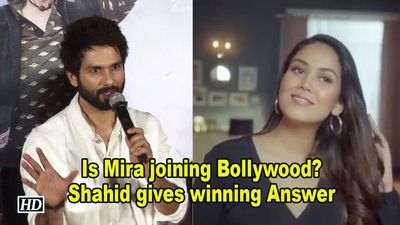 Is Mira joining Bollywood? Shahid gives winning Answer