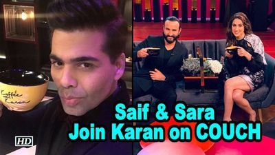 Father-Daughter Saif & Sara Join Karan on COUCH: Koffee with Karan 6