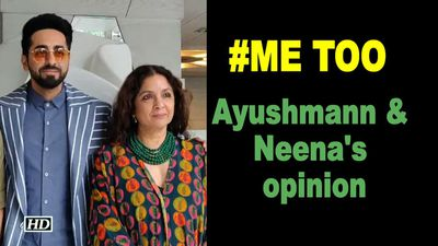 #MeToo : Ayushmann & Neena Share their opinion
