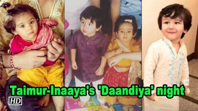 Watch Taimur-Inaaya's 'Daandiya' night with Laksshya