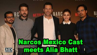 Narcos Mexico Cast meets Alia Bhatt for Fun Interaction