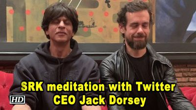 Shah Rukhs meditation with Twitter CEO Jack Dorsey