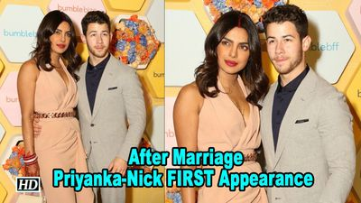 Priyanka -Nick FIRST Public Appearance as MARRIED Couple