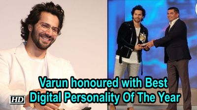 Varun Dhawan honoured with Best Digital Personality Of The Year