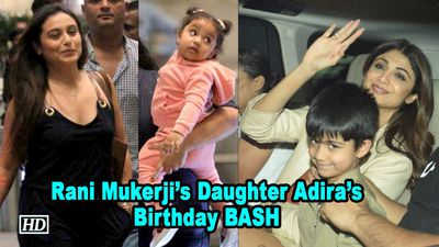 Rani Mukerjis Daughter Adiras Birthday BASH