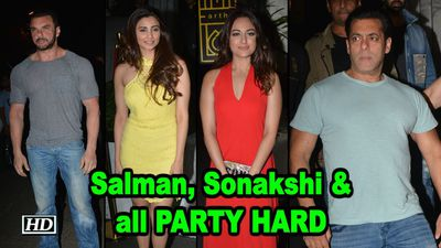 Salman, Sonakshi PARTY HARD at Zaheer Iqbals Birthday Bash