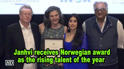 Janhvi Kapoor receives Norwegian award as the rising talent of the year