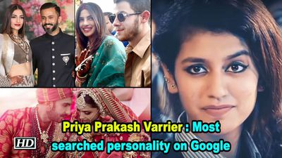 Priya Prakash Varrier : Most searched personality on Google in 2018