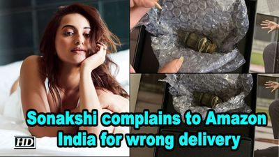 Sonakshi complains to Amazon India for wrong delivery
