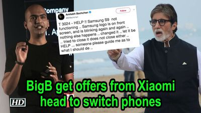 BigB get offers from Xiaomi head to switch phones