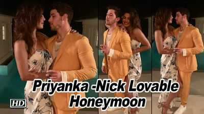 Priyanka -Nick Lovable Sneak Peak from their Honeymoon