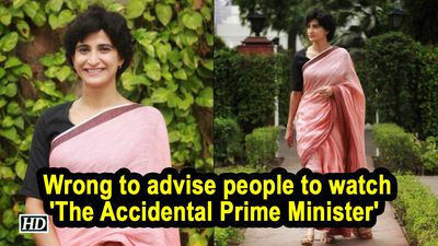 Wrong to advise people to watch 'The Accidental Prime Minister' : Aahana Kumra