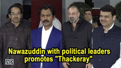 "Uddhav Thackeray, Nawazuddin with political leaders promotes ""Thackeray"" at Marathi Show"
