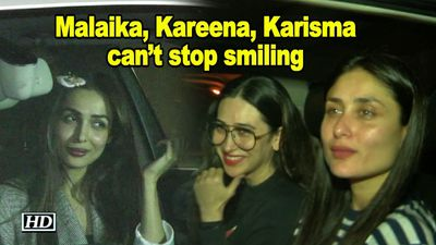 Malaika, Kareena, Karisma cant stop smiling after Karans Party