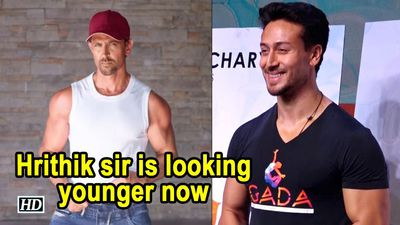 Tiger says Hrithik sir is looking younger now, better than Kaho Na..