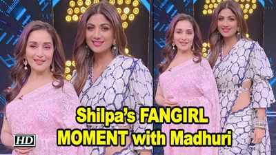 Shilpas FANGIRL MOMENT with Madhuri
