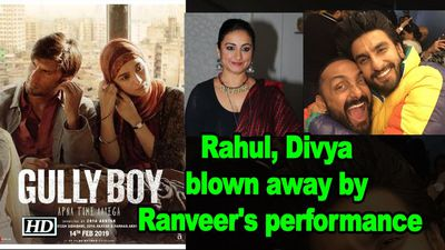 Gully Boy screening Rahul Bose Divya Dutta blown away by Ranveers performance